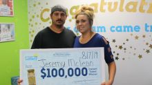 Couple engaged for 4 years can finally have 'dream' wedding after winning $100,000 lottery