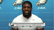 Why is Philadelphia Eagles linebakcer Emmanuel Acho going back to prom?