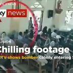 CCTV footage shows Sri Lanka attacker calmly walking into church before massacre