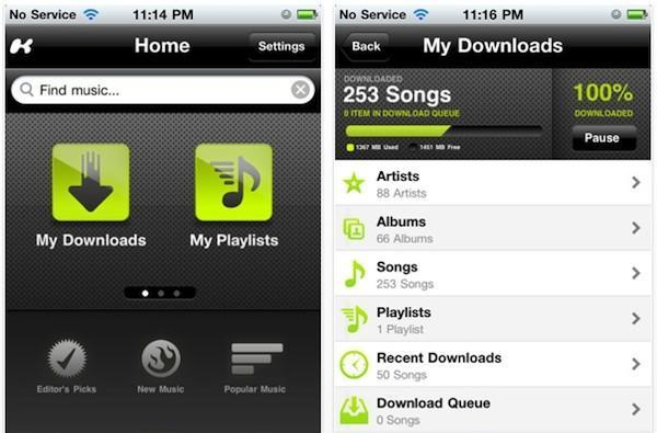 Kazaa rolls out music streaming app for iOS devices