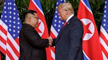 President Trump and North Korea's Kim Jong Un Shake Hands in Historic First Meeting