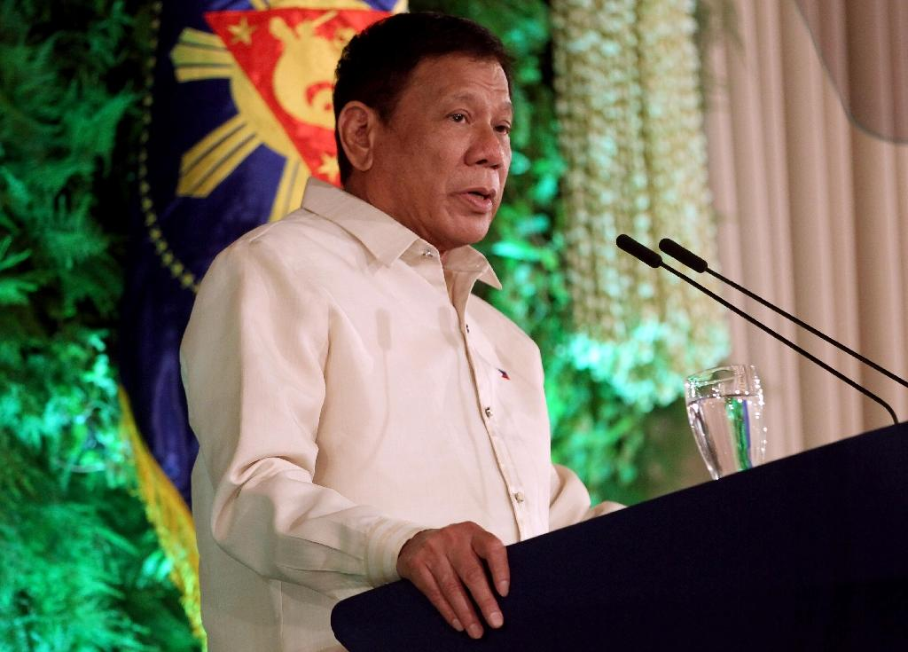 Philippine President Rodrigo Duterte has previously vowed to fight corruption but his main focus has been a war on crime that has seen the killing of hundreds of suspected drug pushers since he was elected on May 9 (AFP Photo/)