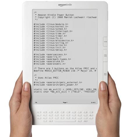 Amazon puts code where its mouth is: releases Kindle source to the world