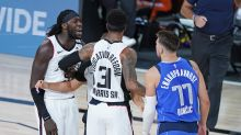 Luka Doncic, Montrezl Harrell talk pregame, appear to settle 'white boy' incident