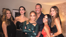 J.Lo wears her sexiest dress ever backstage with Sofia Vergara and Jessica Alba
