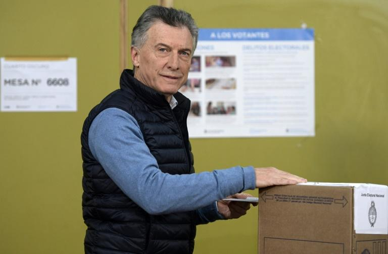 Argentine President Mauricio Macri has the support of the International Monetary Fund and markets, but many voters are fed up with his austerity plan (AFP Photo/JUAN MABROMATA)