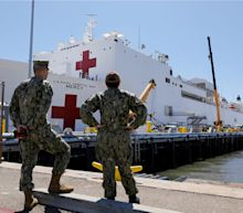 A 1,000-bed US Navy hospital ship just docked in Los Angeles to increase local healthcare capacity — see inside the USNS Mercy