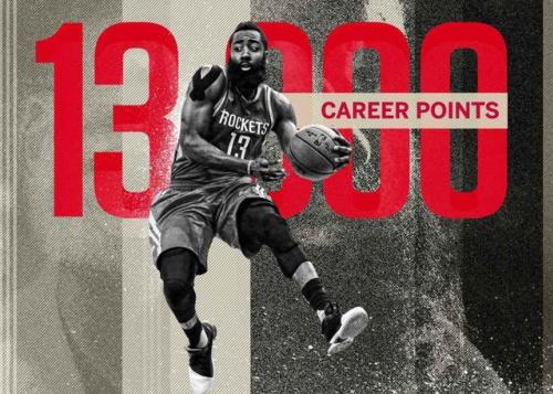 NBA》哈登生涯破13000分  火箭本季遭溜馬雙殺