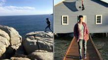 Pictured: Man's final moments before falling to death at tourist spot