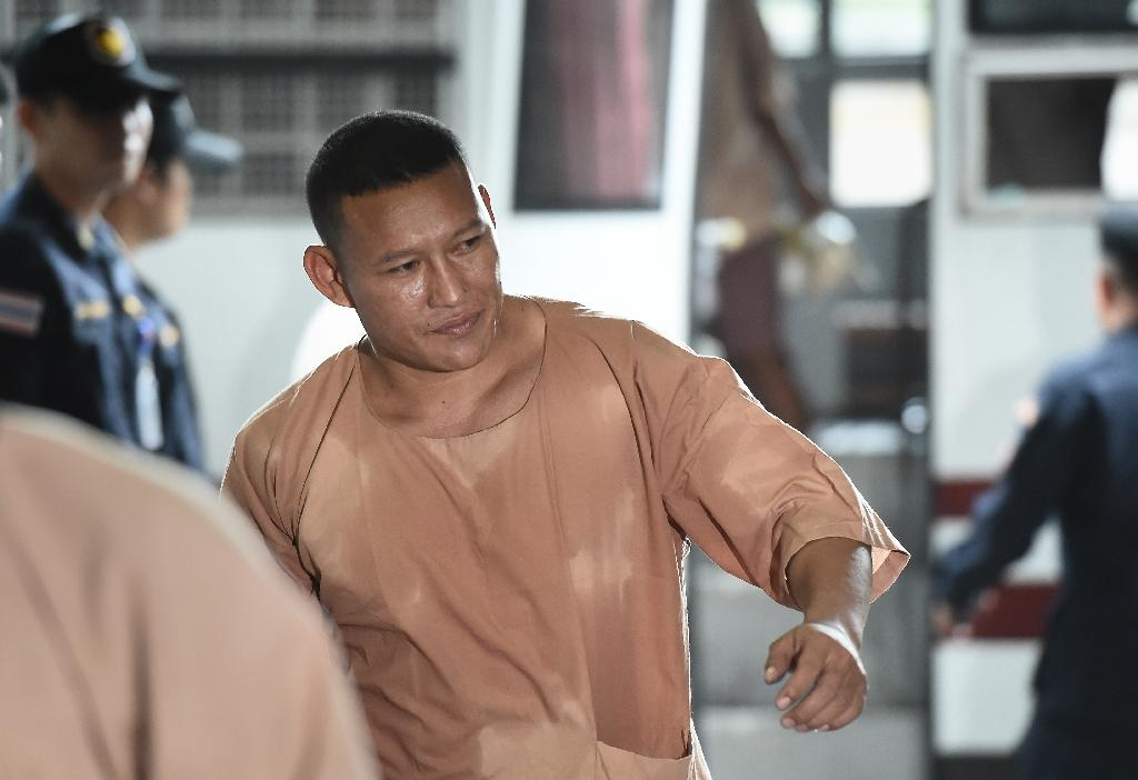 Laotian drug kingpin Xaysana Keopimpha arriving for the start of his trial last year (AFP Photo/LILLIAN SUWANRUMPHA, LILLIAN SUWANRUMPHA)