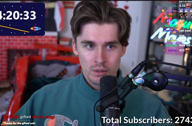 Ludwig Ahgren breaks the Twitch subscriber record with a 31-day live stream