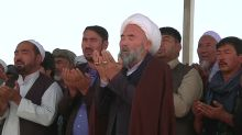 Afghans hold funeral prayers for Shi'ite Muslims killed in mosque attack