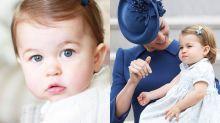 超可愛的紅裙子造型!夏洛特小公主今天正式入讀幼兒學校了!