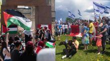 Weekend rallies put focus on conflict between Israel, Palestinians
