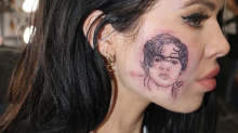 This woman got a tattoo of Harry Styles on her cheek and people are very confused