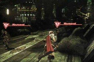 FFXIII scans: in-game battles, reveals first character name
