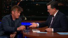 Stephen Colbert asks Sean Penn to stop smoking