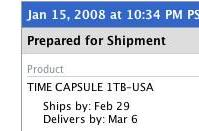 February is almost over, where is my Time Capsule?