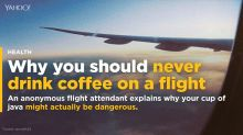 Why you should never drink coffee on a flight