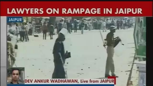 Agitating lawyers go on rampage for 2nd day in Jaipur