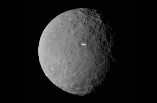 Scientists puzzled by 'bright spots' on surface of dwarf planet Ceres