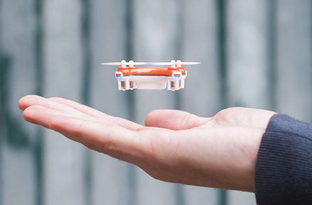 Become an aerial stuntman with the world's smallest quadcopter
