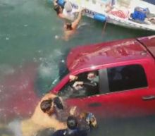 Dramatic Rescue of Woman, Son and Chihuahua Caught on Camera at California Marina