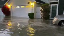 Major Flooding Overflows Streets of Newport Beach, California