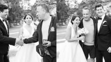 Tom Hanks shocks couple by photobombing their wedding pictures