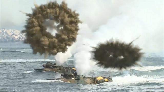 South Korea and U.S. continue military exercises amid growing tension with the North