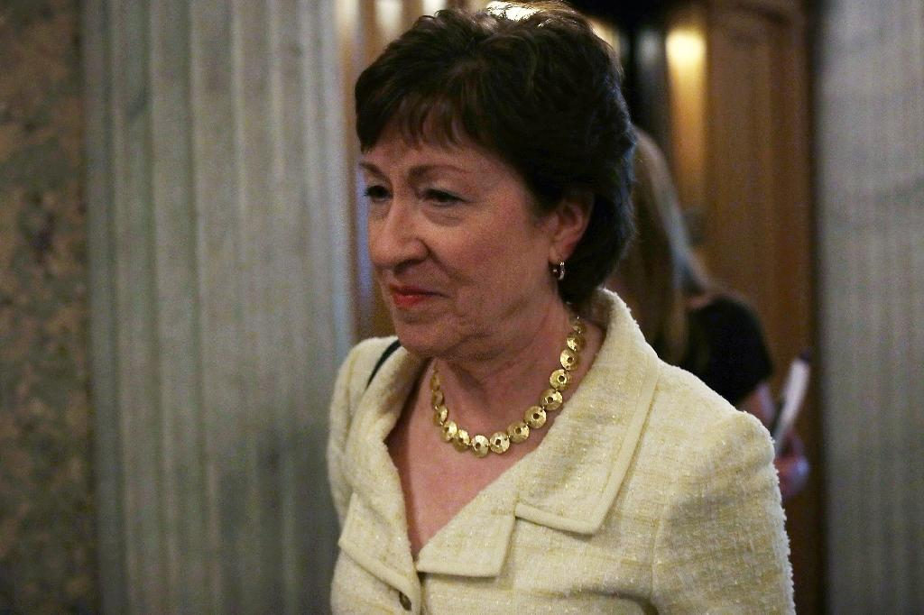 US Senator Susan Collins said she will not support Donald Trump as he is 'unworthy' of America's highest elective office (AFP Photo/Alex Wong)