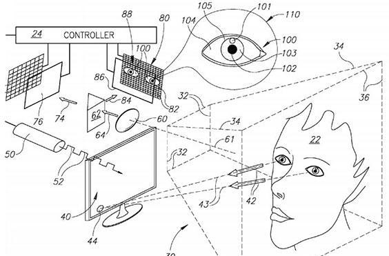 Microsoft applies to patent gaze-tracking camera, wants to stare into your eyes