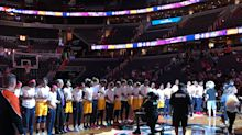 WNBA players unite, lock arms during national anthem to honor victims of 'blatant hate' in Charlottesville