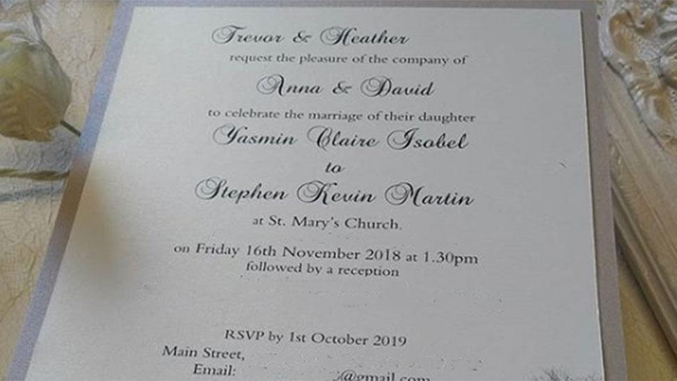 Can you spot the glaring mistake on this wedding invitation?
