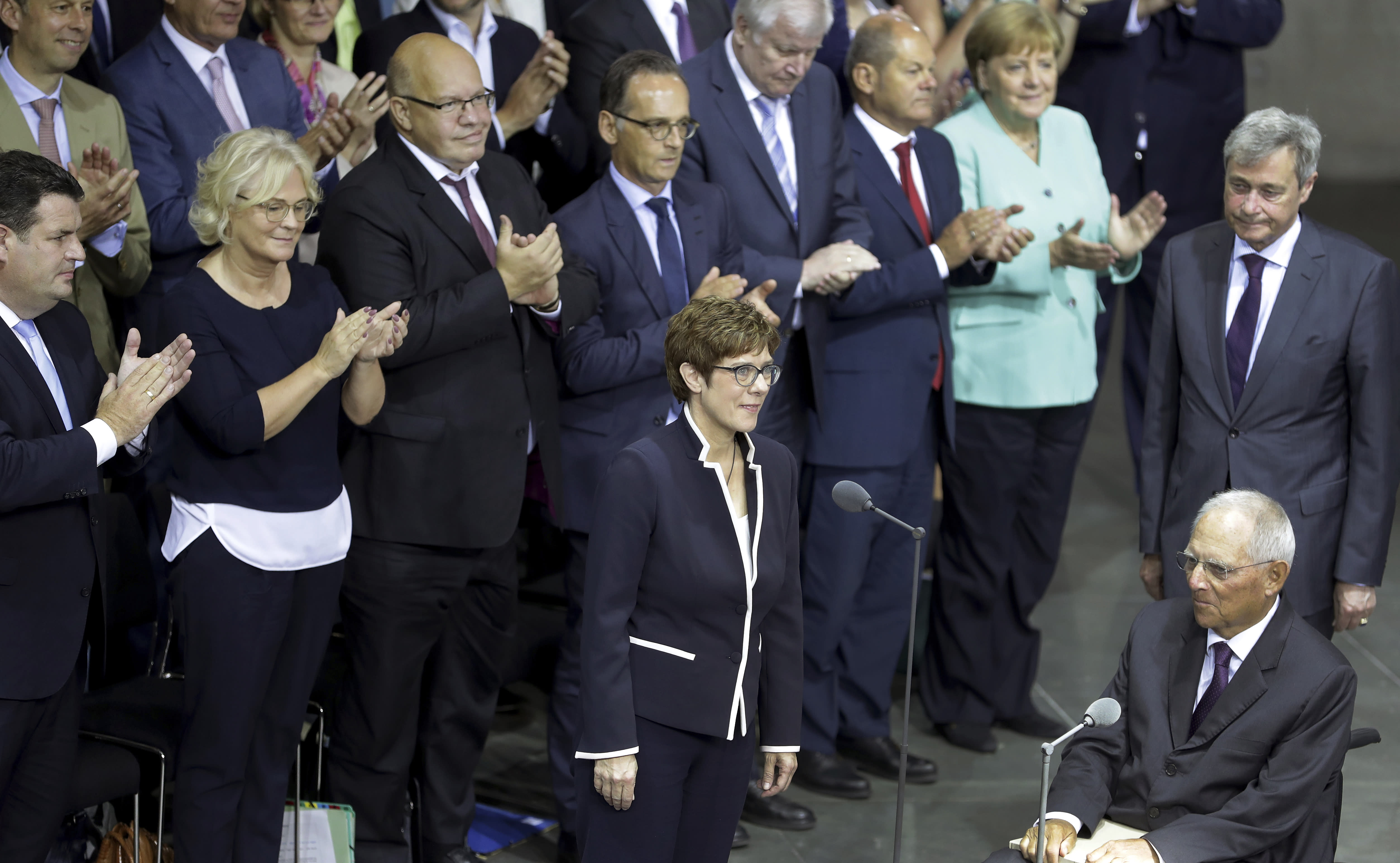 Angela Merkel Topless new german defense minister backs higher military spending