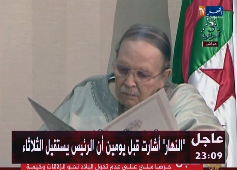 Ex-president seeks forgiveness from Algerians facing new era