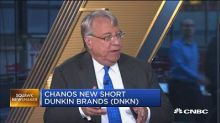 Short-seller Jim Chanos reveals bets against Dunkin' Brands and Burger King's parent — the stocks sink