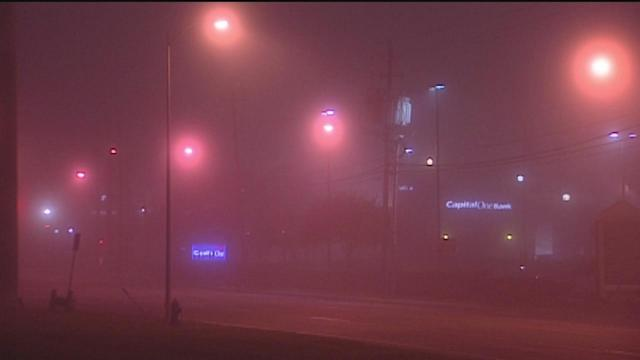 Foggy commute for area drivers