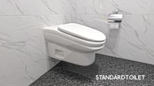 Company invents sloping toilet to prevent workers taking long loo breaks