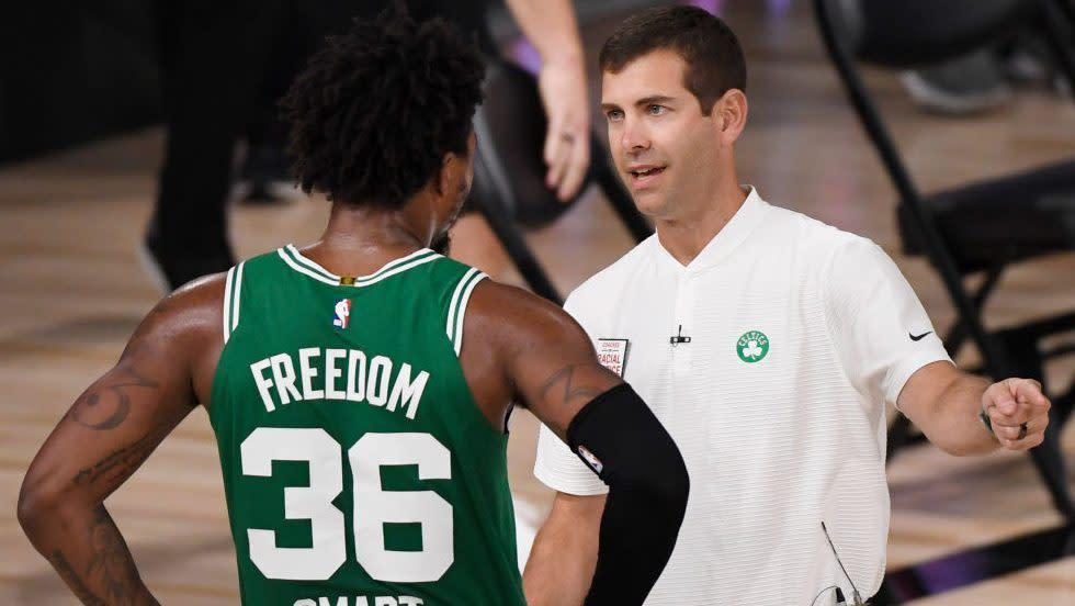Brad Stevens hosts late night meeting with Smart, Brown, Celtics' leadership