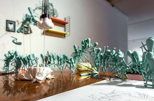 Watch these artists 3D print animation into reality
