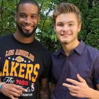 Darius Slay surprises Detroit Lions fan at high school graduation party and brings a gift
