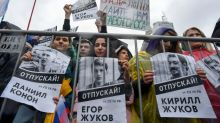 Tears, fear as Russian students jailed over opposition protests