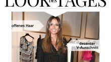 Look des Tages: Heidi Klum mit funkelnden Polka Dots