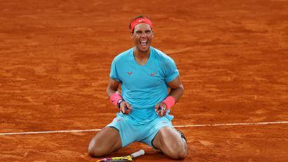 Nadal dominates Djokovic, ties Fed's Slam mark