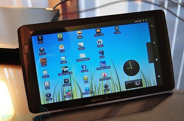 Archos 101 now shipping, Android tablet game really heating up