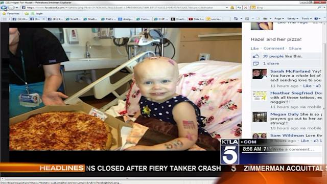 Hospital Flooded With Pizza for 2-Year-Old Patient
