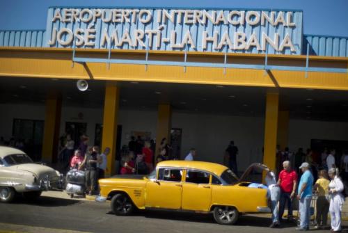 International airport in Cuba.