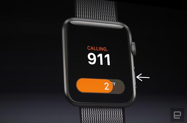 Apple WatchOS 3's SOS feature alerts emergency services anywhere