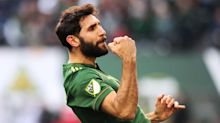 Diego Valeri scores with spectacular volley in Portland's 1-1 draw with New England